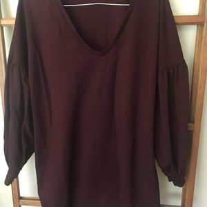 Express Dress maroon large